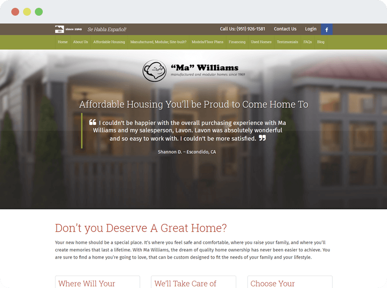 Ma Williams Homes